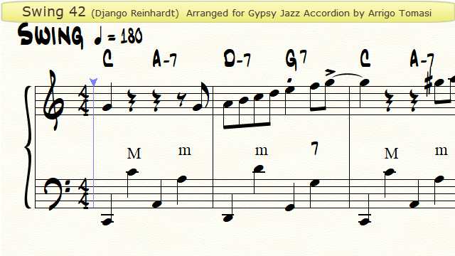 Swing 42 for Gypsy Jazz Accordion - Youtube