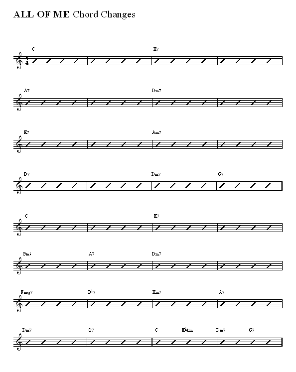 All Of Me Accordion Sheet Music