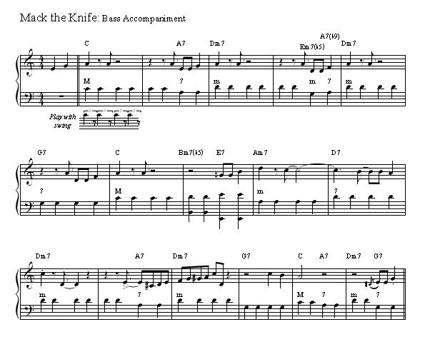 Mack The Knife Accordion Sheet Music
