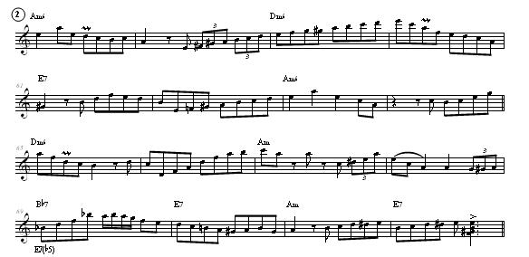 Minor Swing, Accordion sheet music